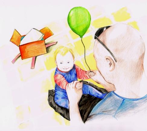 """מתוך הספר """"מתנה לגיל שנה"""". איור: אוראל שריקי"""